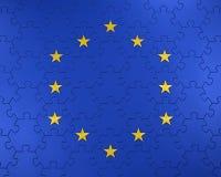 Bandiera dell'Unione Europea come puzzle illustrazione vettoriale