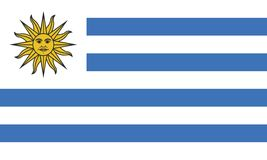 Bandiera dell'Uruguay Fotografia Stock