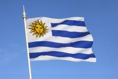 Bandiera dell'Uruguay - il Sudamerica Fotografie Stock Libere da Diritti