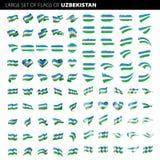 Bandiera dell'Uzbekistan, illustrazione di vettore Fotografia Stock Libera da Diritti