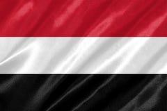 Bandiera dell'Yemen immagini stock libere da diritti
