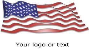 Bandiera della bandierina degli S.U.A. Fotografia Stock Libera da Diritti