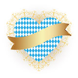Bandiera della Baviera come icona del cuore Fotografia Stock Libera da Diritti