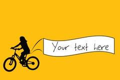 Bandiera della bici Fotografia Stock Libera da Diritti
