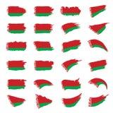Bandiera della Bielorussia, illustrazione di vettore Fotografia Stock