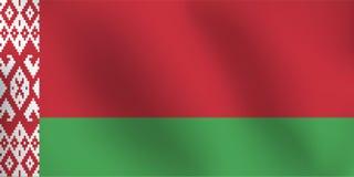 Bandiera della Bielorussia - illustrazione di vettore Fotografie Stock Libere da Diritti