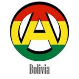 Bandiera della Bolivia del mondo sotto forma di segno dell'anarchia royalty illustrazione gratis