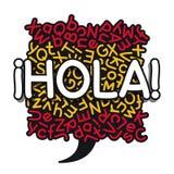 Bandiera della bolla di apprendimento delle lingue spagnole Fotografie Stock Libere da Diritti