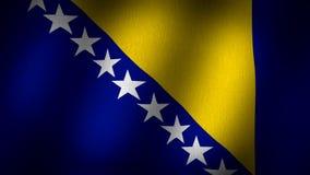 Bandiera della Bosnia royalty illustrazione gratis