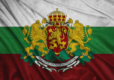 Bandiera della Bulgaria Fotografie Stock