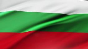 Bandiera della Bulgaria che ondeggia nel fondo realistico della bandiera della Bulgaria della videoripresa del vento Primo piano  royalty illustrazione gratis