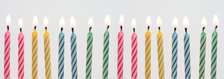 Bandiera della candela di compleanno Immagini Stock Libere da Diritti