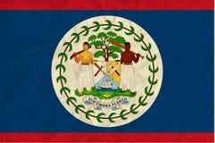 Bandiera della carta di Belize Fotografie Stock