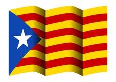 Bandiera della Catalogna Fotografie Stock Libere da Diritti