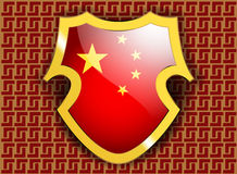 Bandiera della Cina Fotografie Stock