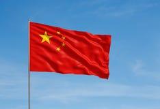 Bandiera della Cina Immagini Stock Libere da Diritti