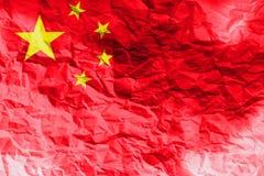 Bandiera della Cina, simbolo dell'illustrazione della bandiera nazionale 3D di 3D Cina Fotografia Stock Libera da Diritti