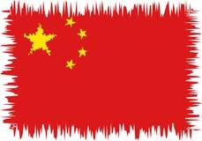 Bandiera della Cina stilizzata Fotografie Stock Libere da Diritti