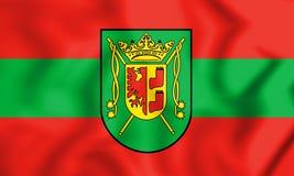 Bandiera della città Bassa Sassonia, Germania di Wittmund Immagini Stock