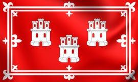 Bandiera della città di Aberdeen, Scozia Fotografia Stock Libera da Diritti