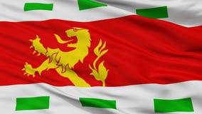 Bandiera della città di Barendrecht, Paesi Bassi, vista del primo piano fotografia stock libera da diritti