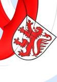 Bandiera della città di Braunschweig, Germania Bassa Sassonia Immagine Stock