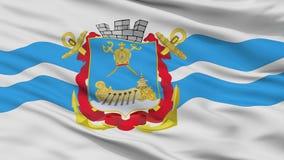 Bandiera della città di Nikolaev, Ucraina, vista del primo piano Royalty Illustrazione gratis