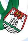 Bandiera della città di Wolfsburg, Germania Fotografia Stock