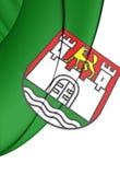 Bandiera della città di Wolfsburg, Germania Immagine Stock