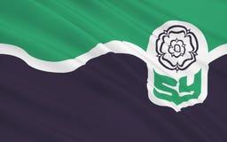 Bandiera della contea di South Yorkshire, Inghilterra illustrazione di stock