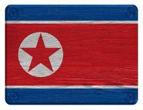 Bandiera della Corea del Nord fotografie stock