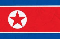 Bandiera della Corea del Nord Fotografia Stock
