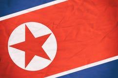 Bandiera della Corea del Nord Fotografia Stock Libera da Diritti