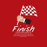 Bandiera della corsa. Fotografia Stock