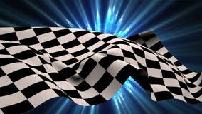 Bandiera della corsa che rinuncia nel vento illustrazione vettoriale