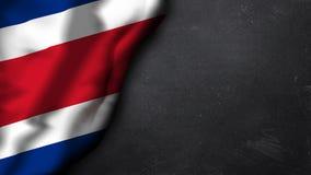 Bandiera della Costa Rica su un fondo del gesso Fotografie Stock