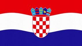 Bandiera della Croazia che ondeggia il video fresco variopinto allegro del fondo del ciclo di nuovo moto dinamico animato unico s archivi video