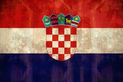 Bandiera della Croazia nell'effetto di lerciume Fotografia Stock