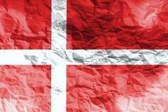 Bandiera della Danimarca, simbolo dell'illustrazione della bandiera nazionale 3D della Danimarca Fotografia Stock Libera da Diritti