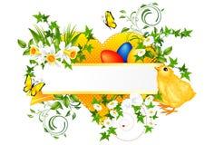 Bandiera della decorazione di Pasqua Fotografia Stock