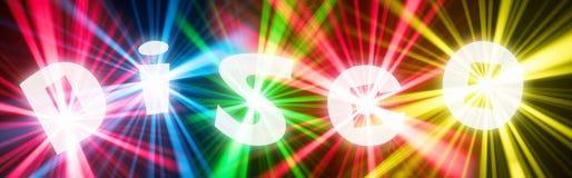 Bandiera della discoteca immagine stock