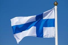 Bandiera della Finlandia Fotografia Stock