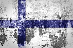 Bandiera della Finlandia Immagini Stock