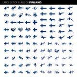 Bandiera della Finlandia, illustrazione di vettore Fotografia Stock