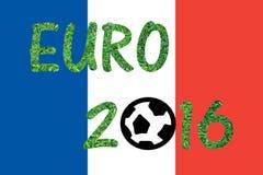 Bandiera della Francia con la parola EURO 2016 Fotografia Stock Libera da Diritti