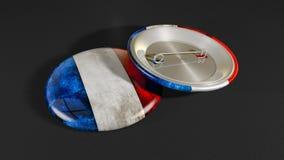 Bandiera della Francia del distintivo Immagine Stock