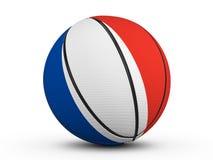 Bandiera della Francia della palla di pallacanestro Immagini Stock Libere da Diritti