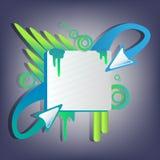 Bandiera della freccia Fotografie Stock
