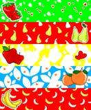 Bandiera della frutta Fotografia Stock