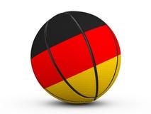 Bandiera della Germania della palla di pallacanestro Fotografia Stock Libera da Diritti